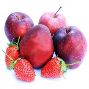 چهار سیب و سه توت فرنگی