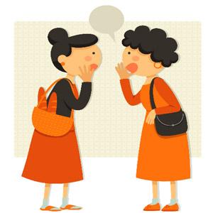 نقاشی دو زن حال حرف زدن