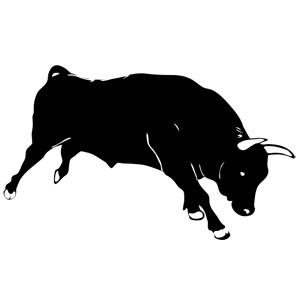 نقاشی گاو نر در حال حمله