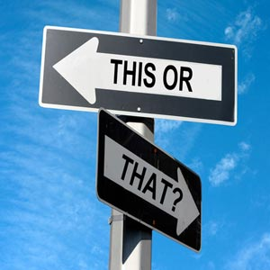 مصمم در خواستن و کنار گذاشتن شک و تردید و راضی شدن به جایگزین ها